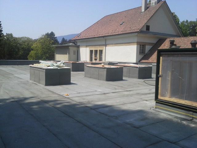 Krematorium Biel, Flachdachsanierung