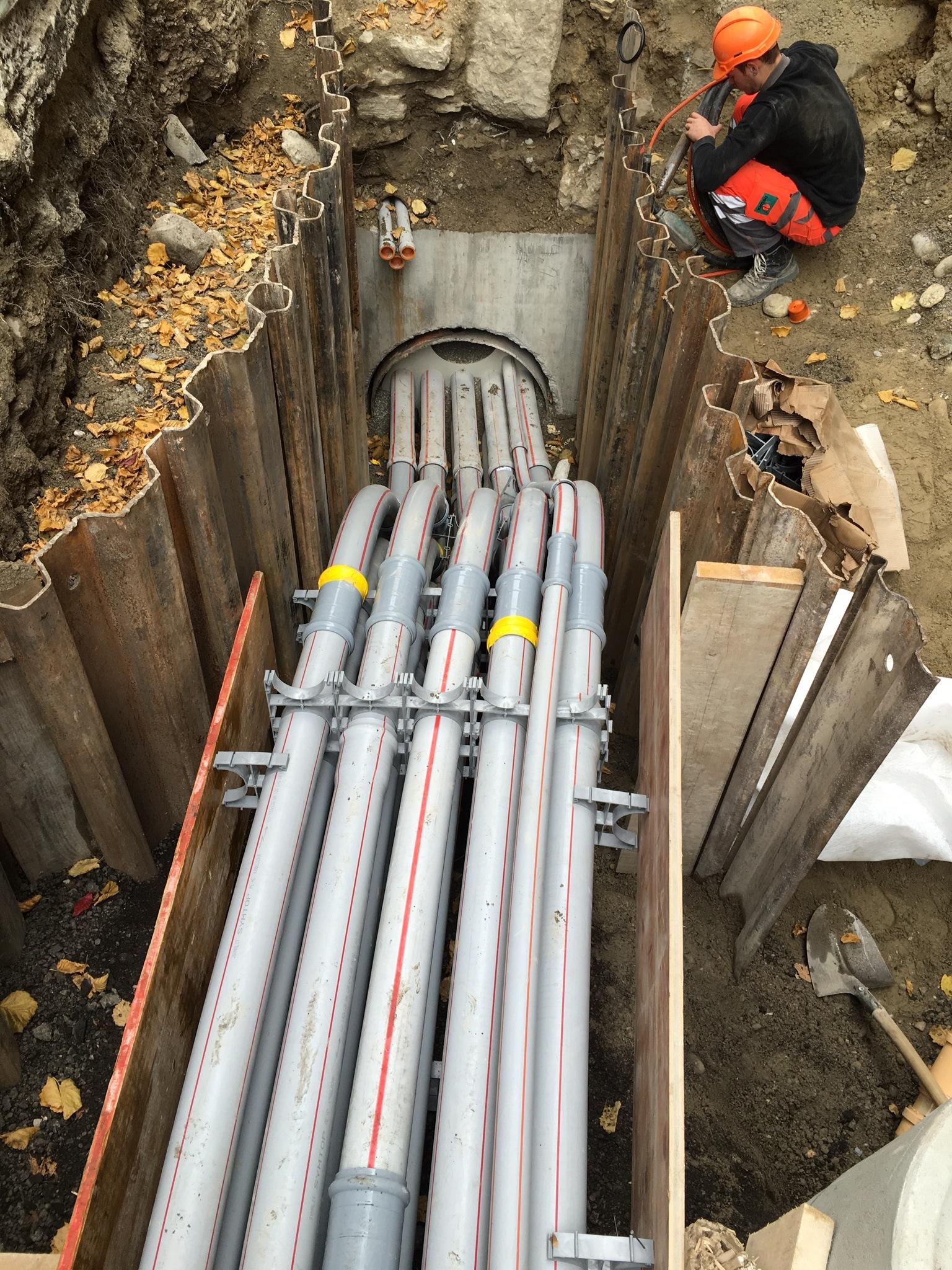 Kanalisationerneuerung Schmiedengasse - Untergasse, Biel