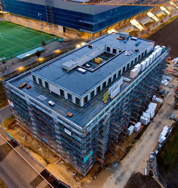 Biel/Bienne, Dexel SA, nouveau bâtiment industriel