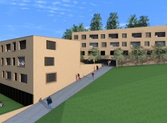 Im Bau 32 Wohnungen für alte Menschen